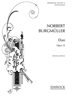 Norbert Burgmüller: Duo For Clarinet And Piano Op15 Books | Clarinet, Piano Accompaniment