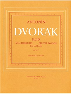 A. Dvorak: Silent Woods Op.68 No.5 For Cello And Piano Books | Cello, Piano Accompaniment