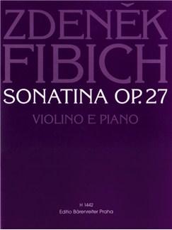 Z. Fibich: Sonatina Op.27 In D Minor For Violin And Piano Books | Violin, Piano Accompaniment