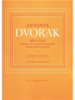 A.  Dvorak: Mass In D Op.86 - Organ Version Books | Choral, Organ Accompaniment