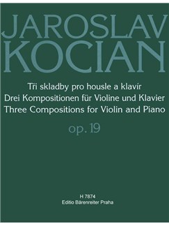 J. Kocian: Three Compositions For Violin And Piano Op.19 Books | Violin, Piano Accompaniment