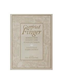 G. Finger: Sonata In F For Treble Recorder & Basso Continuo Books | Recorder, Piano Accompaniment