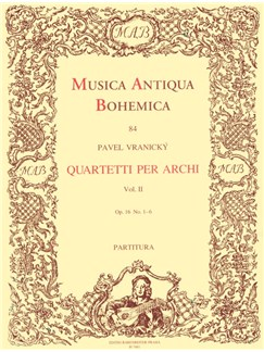 A. Vranicky: String Quartets Book 2 - Op.16 Nos 1-6 (Full Score) Books | String Quartet