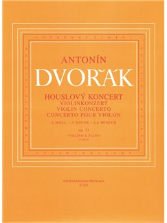 A. Dvorak: Violin Concerto In A Minor Op.53 - B.108 (Violin & Piano) Books | Violin, Piano Accompaniment