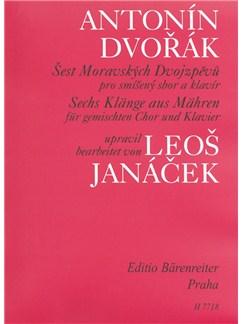 A. Dvorak: 6 Moravian Duets Arranged By Leos Janacek Libro | Acompañamiento de Piano