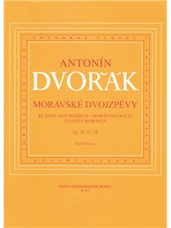 A. Dvorak: Moravian Duets Op.20, 32, 38 - Voice & Piano Books | Voice, Piano Accompaniment