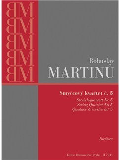 B. Martinu: String Quartet No.5 (Study Score) Books | String Quartet