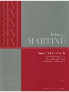 B. Martinu: String Quartet No.5 (Parts) Books | String Quartet