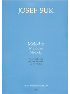 J. Suk: Melody For 2 Violins Books | Violin