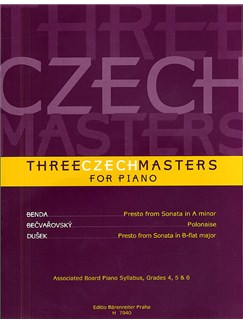 Three Czech Masters Books | Piano
