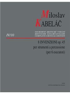 M. Kabelac: 8 Invenzioni Op.45 For Percussion Books | Percussion