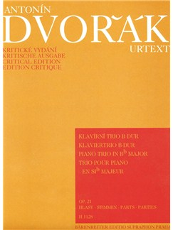A. Dvorak: Piano Trio In B-Flat Op.21 Books | Piano Chamber
