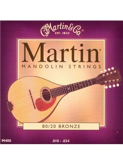 Martin: M400 80/20 Bronze Mandolin Strings  | Mandolin