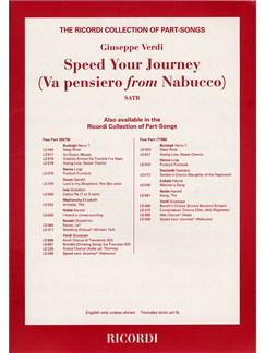 Guiseppe Verdi: Speed Your Journey (Va Pensiero From Nabucco) Books | SATB