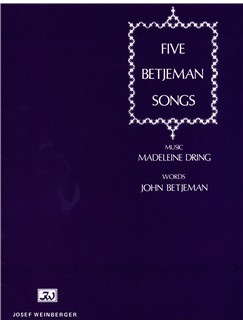 Madeleine Dring: Five Betjeman Songs Books | Piano Accompaniment, Voice