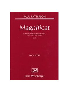 Paul Patterson: Magnificat Op.75 Books | SATB, Organ Accompaniment