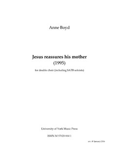 Anne Boyd: Jesus Reassures His Mother (Choral Score) Books | SATB