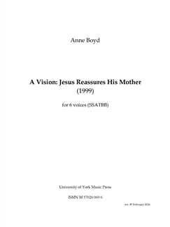Anne Boyd: A Vision - Jesus Reassures His Mother Books | SATB