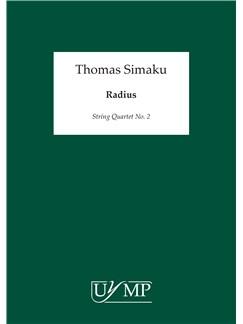 Thomas Simaku: Radius - String Quartet No. 2 Books | String Quartet