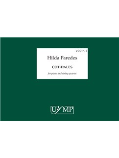 Hilda Paredes: Cotidales (Parts) Books | String Quartet, Piano Chamber