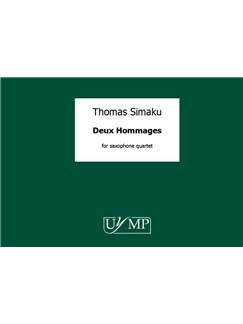 Thomas Simaku: Deux Hommages Books | Saxophone (Quartet)