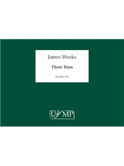James Weeks: Three Trios - A3 Performing Score Books | Violin, Cello, Piano Chamber