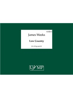 James Weeks: Low Country (Set Of 4 Performing Scores) Books | String Quartet