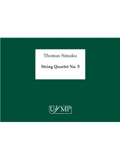 Thomas Simaku: String Quartet No.5 Books | String Quartet