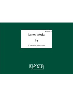 James Weeks: Joy - Three Performing Scores (A3 Landscape Loose Leaf) Livre | Violon(Duo), Percussion