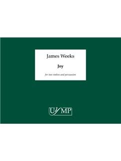 James Weeks: Joy - Study Score (A4 Landscape Bound) Livre | Violon(Duo), Percussion