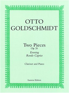 Otto Goldschmidt: Two Pieces For Clarinet And Piano Op.26 Books | Clarinet, Piano Accompaniment