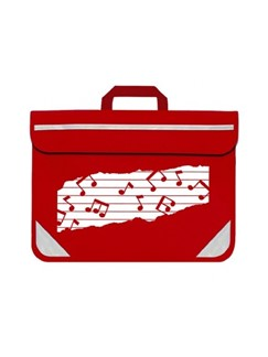 Mapac: Music Bag Duo - Music Notes (Red)  |