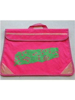 Mapac: Music Bag Duo - Music Notes (Fluorescent Pink/Reflective Green)  |