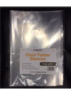 Mapac: Choir Folder Sleeves For Single Sheets (Pack Of 5)  | Choral
