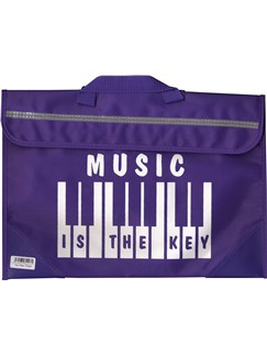 Mapac: Piano/Keyboard Music Bag - Music Is The Key (Purple)  |