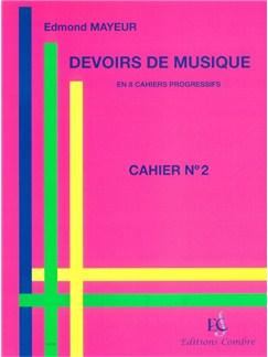 Edmond Mayeur: Devoirs De Musique - Cahier 2 Books |