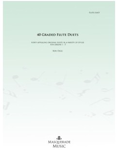 Keri Degg: 40 Graded Flute Duets (Grades 1-5) Books | Flute (Duet)