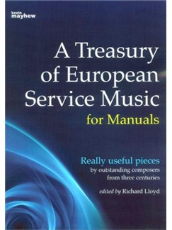 A Treasury Of European Service Music For Manuals Books | Organ