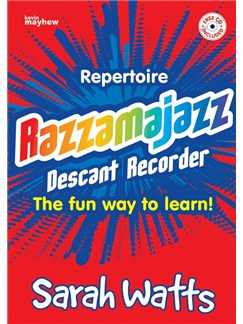 Sarah Watts: Razzamajazz Repertoire Descant Recorder Books and CDs | Soprano (Descant) Recorder