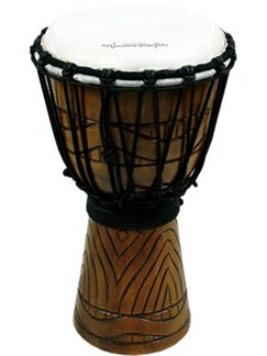 World Rhythm: Jammer Series 40cm Djembe - Swirl Natural Instruments | Percussion, World Drums