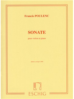 Fancis Poulenc: Sonate Pour Violon Et Piano Books | Violin, Piano Accompaniment