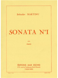 Bohuslav Martinu: Sonata No.1 Books | Piano