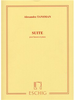 Alexandre Tansman: Suite Pour Basson Et Piano Books | Bassoon, Piano Accompaniment