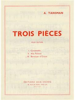 Alexandre Tansman: Trois Pieces - No.3 Berceuse D'Orient Books | Guitar