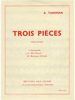 Alexandre Tansman: Trois Pieces - No.2 Alla Polacca Books | Guitar