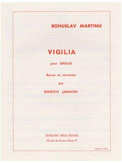 Bohuslav Martinu: Vigilia (Organ) Books | Organ