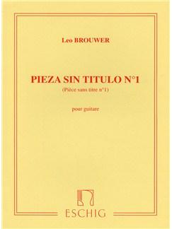 Leo Brouwer: Pieza Sin Titulo No.1 Books | Guitar