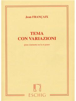 Jean Francaix: Tema Con Variazioni Books   Clarinet, Piano Accompaniment