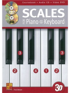 Fred Stinson: Scales For Piano And Keyboard (Book/CD/DVD) Books, CDs and DVDs / Videos | Piano, Keyboard