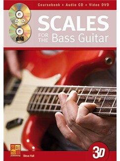 Steve Hall: Scales For The Bass Guitar In 3D (Book/CD/DVD) Books, CDs and DVDs / Videos | Bass Guitar